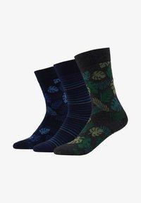 Pier One - 3 PACK - Ponožky - black/green - 1