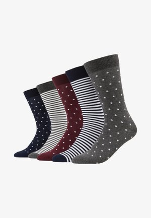 5 PACK - Sokken - blue/grey/bordeaux