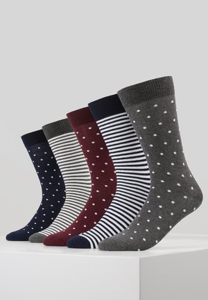 5 PACK - Calcetines - blue/grey/bordeaux