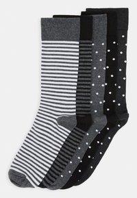 Pier One - 5 PACK - Ponožky - black/mottled grey - 0