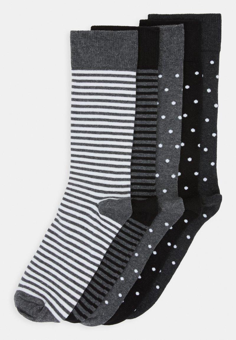 Pier One - 5 PACK - Ponožky - black/mottled grey
