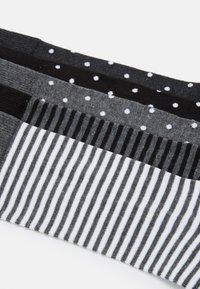 Pier One - 5 PACK - Ponožky - black/mottled grey - 1