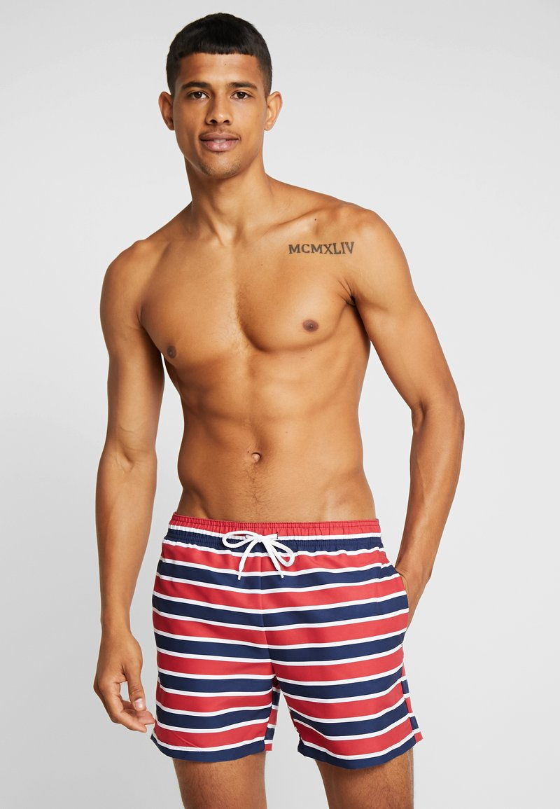 Pier One - Swimming shorts - red/dark blue