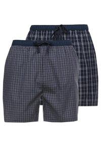 Pier One - 2 PACK - Pyjamahousut/-shortsit - dark blue - 0