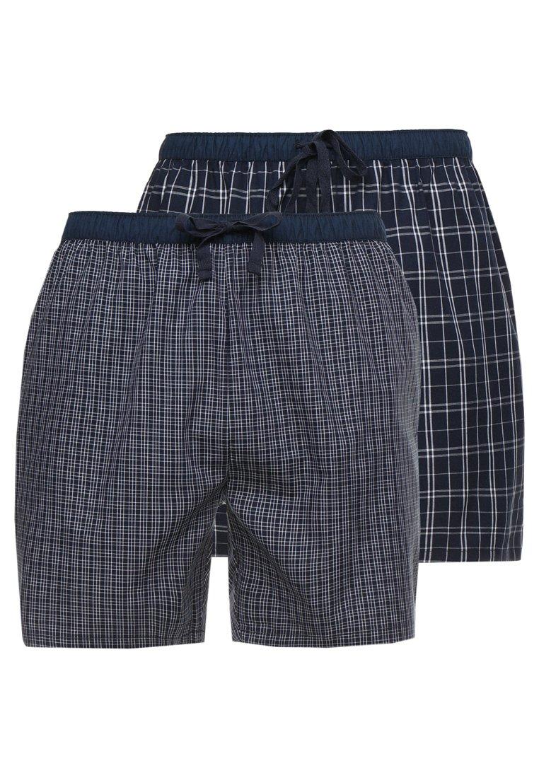 Pier One - 2 PACK - Pyjamahousut/-shortsit - dark blue