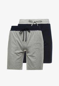 Pier One - 2 Pack - Pyjamahousut/-shortsit - grey/dark blue - 4