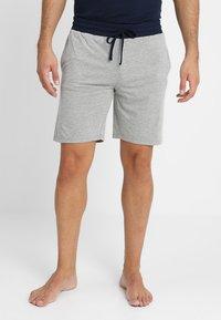 Pier One - 2 Pack - Pyjamahousut/-shortsit - grey/dark blue - 3