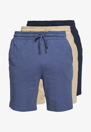 BASIC 3 PACK - Pyjama bottoms - blue/beige/dark blue