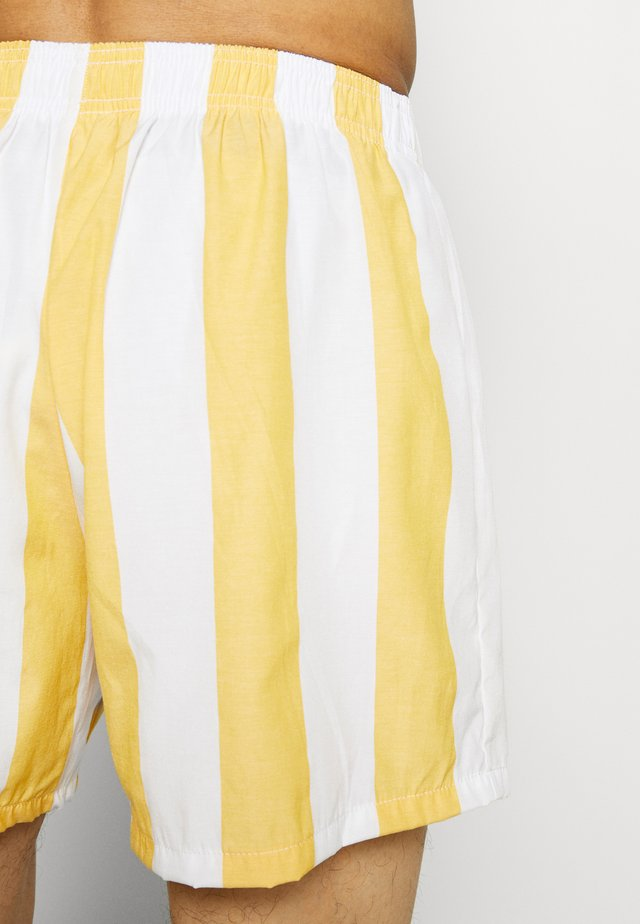 Pyjama bottoms - white/yellow