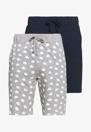 2 PACK - Pyjamabroek - dark blue/mottled grey