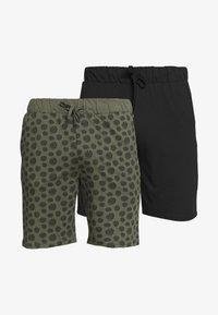 Pier One - 2 PACK - Pyjama bottoms - khaki/black - 5