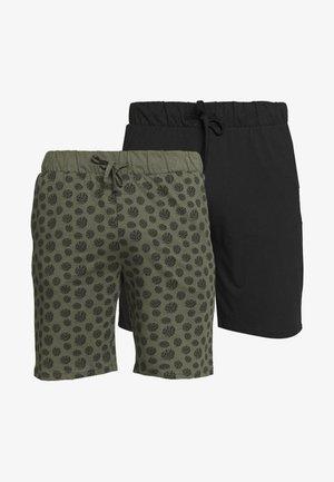 2 PACK - Pyjamabroek - khaki/black