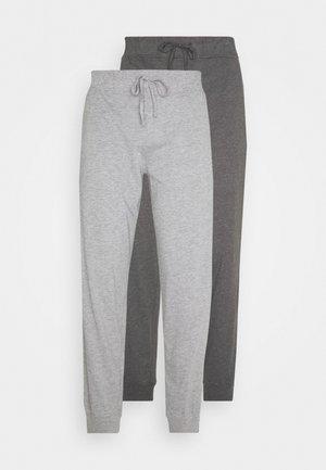 2 PACK - Pyjamabroek - mottled dark grey/mottled grey