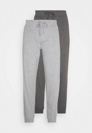 2 PACK - Pantalón de pijama - mottled dark grey/mottled grey