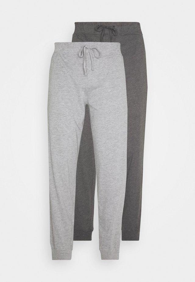 2 PACK - Pantaloni del pigiama - mottled dark grey/mottled grey