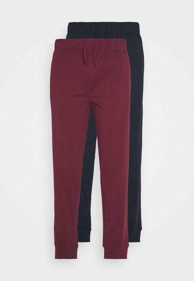2 PACK - Pantaloni del pigiama - dark blue/bordeaux