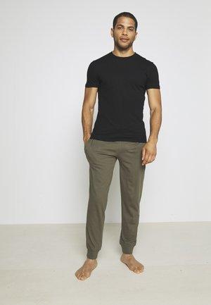2 PACK - Pyjamasbukse - black/khaki