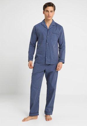 STRIPE WOVEN BUTTON UP SET  - Pijama - blue