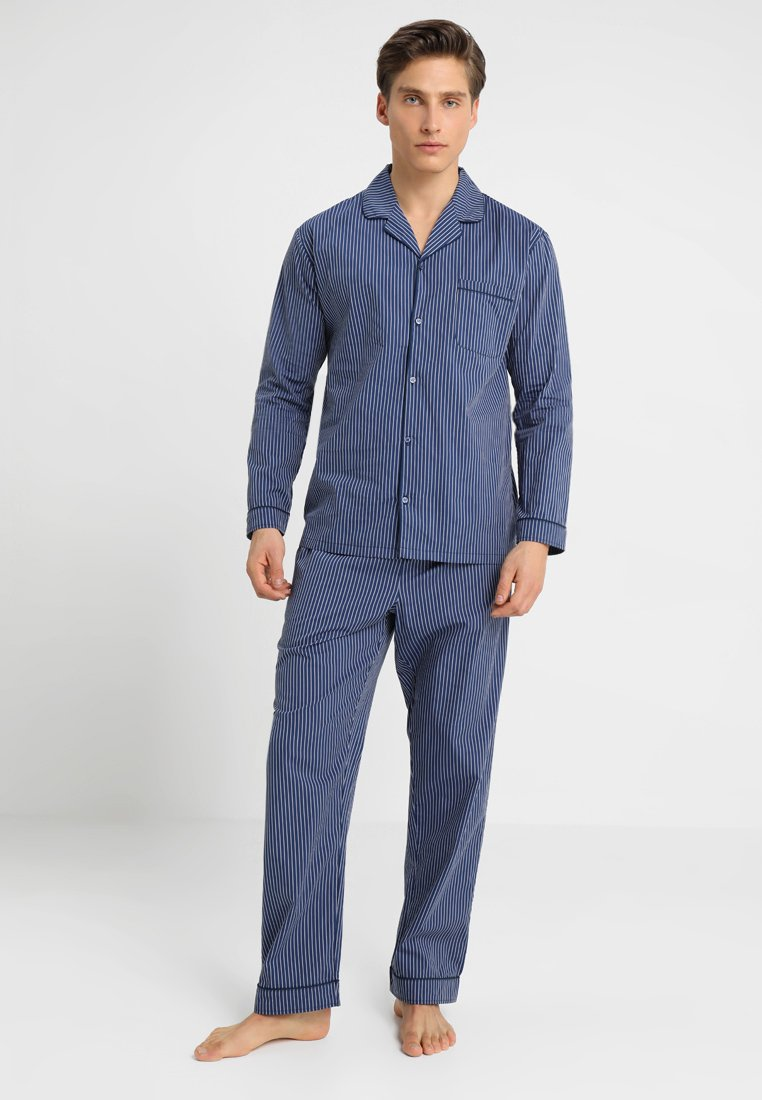 Pier One - STRIPE WOVEN BUTTON UP SET  - Pijama - blue