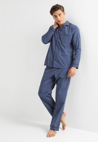 Pier One - STRIPE WOVEN BUTTON UP SET  - Pijama - blue - 1