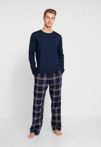 Pier One - LONG SLEEVE - Pyjama - dark blue - 1