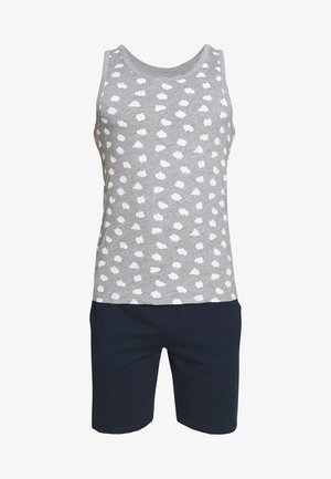 SET - Pyjama set - mottled grey/dark blue