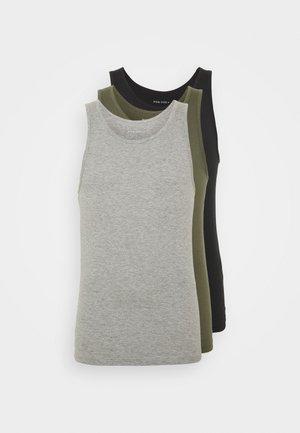 Maglietta intima - black/khaki/grey