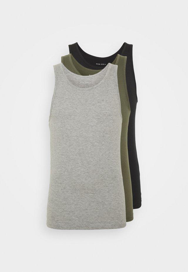 Undertrøjer - black/khaki/grey