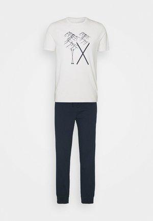 set - Pyjamas - off-white/dark blue