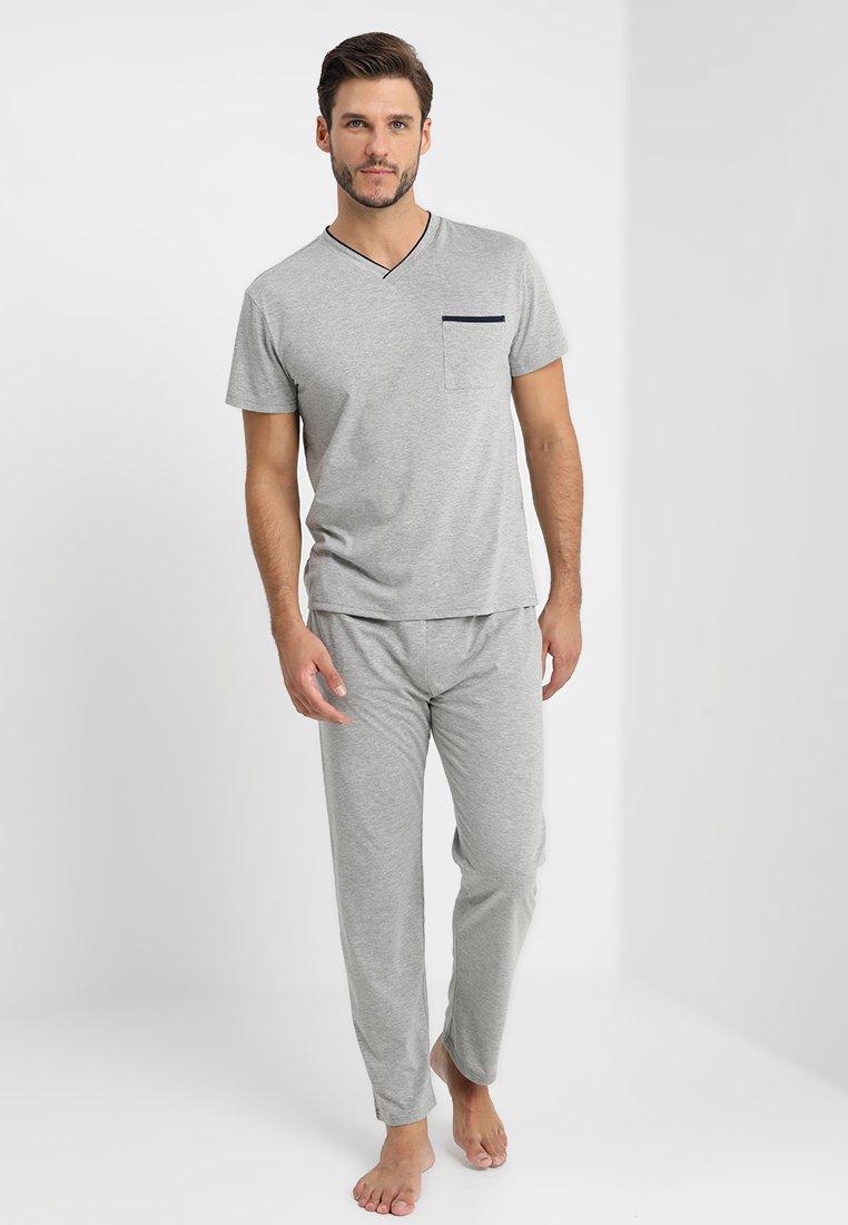 Pier One - Nachtwäsche Shirt - grey/dark blue