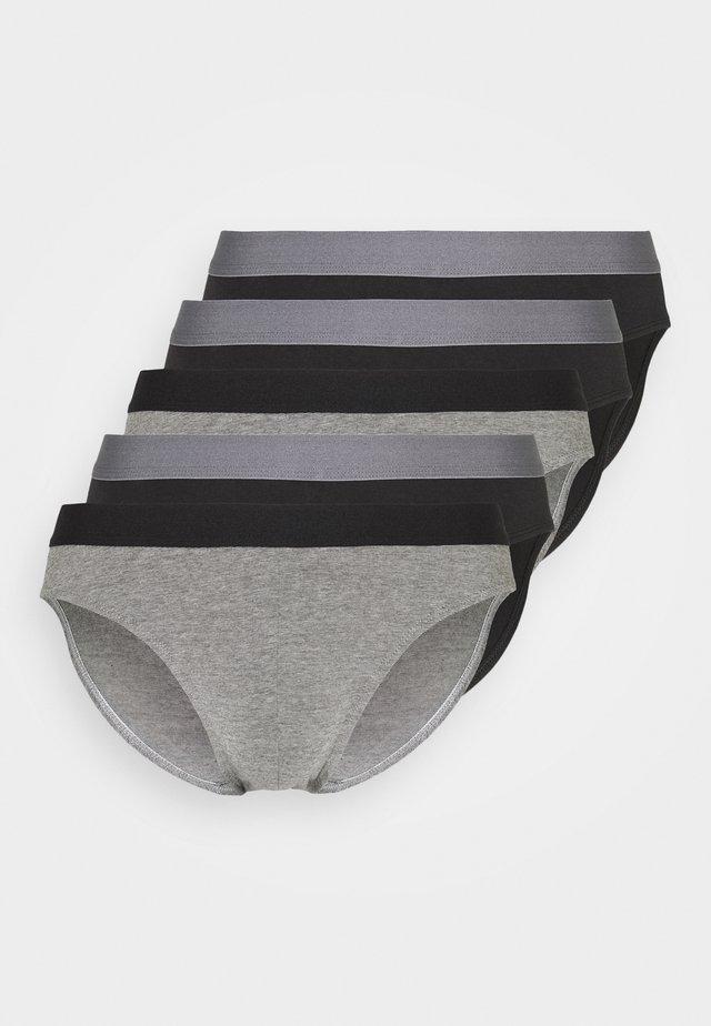 5 PACK - Briefs - black/mottled grey