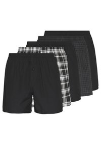 Pier One - 5 PACK - Boxershort - black - 0