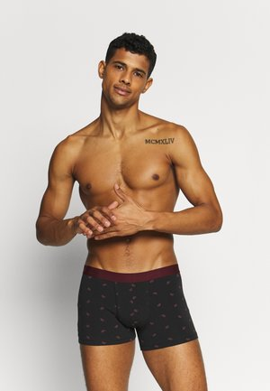 3 PACK - Pants - black/bordeaux