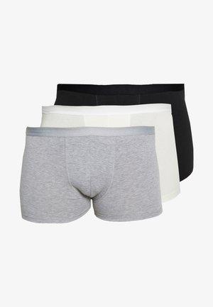 3 PACK - Shorty - black/white/mottled grey