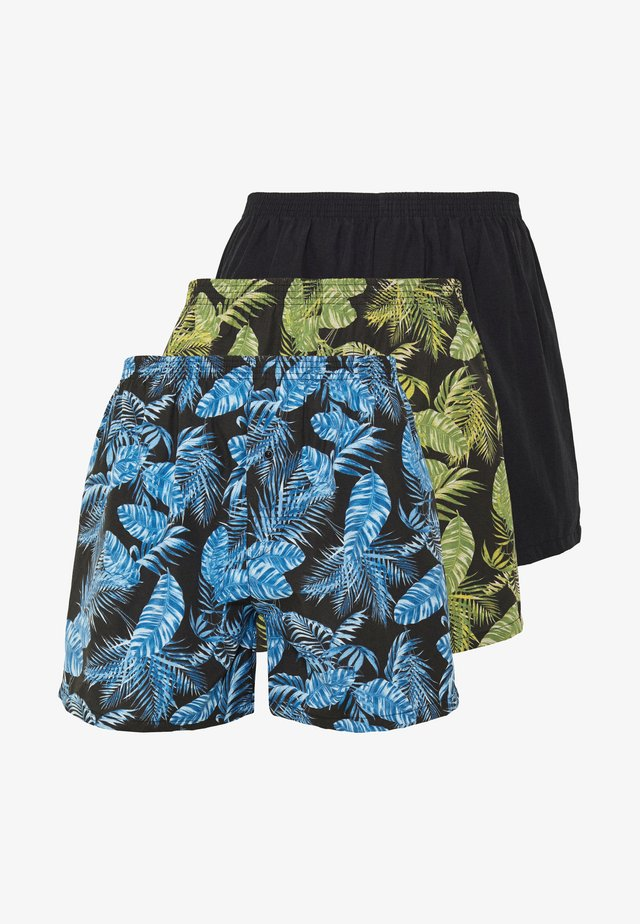 3 PACK - Boxershort - black/green/blue