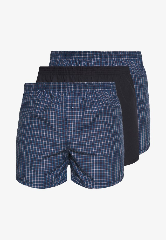 3 PACK - Boxer shorts - dark blue/blue