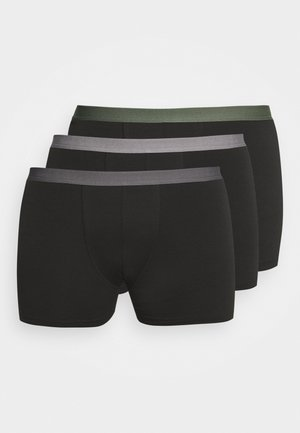 3 PACK - Shorty - black/khaki