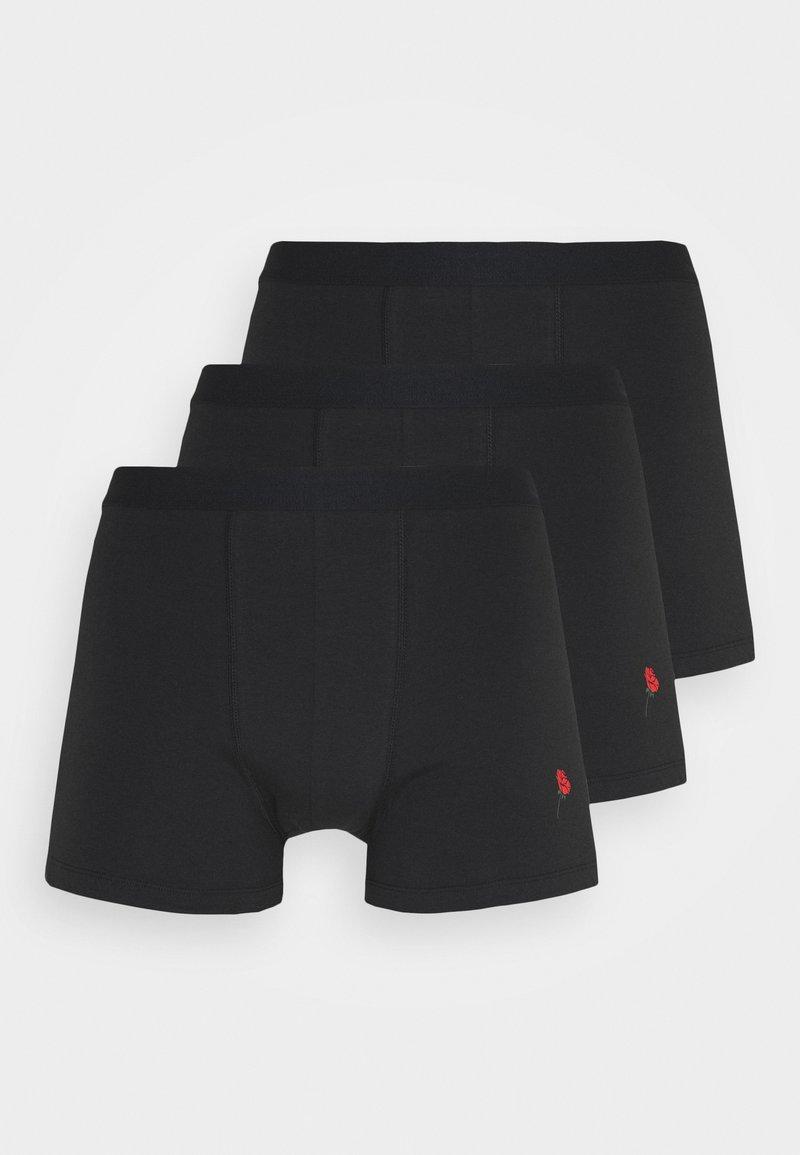 Pier One - 3 PACK - Onderbroeken -  black