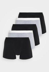 Pier One - 5 PACK - Onderbroeken - black/mottled grey - 0