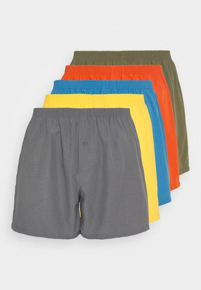 5 PACK - Caleçon - grey/yellow/blue