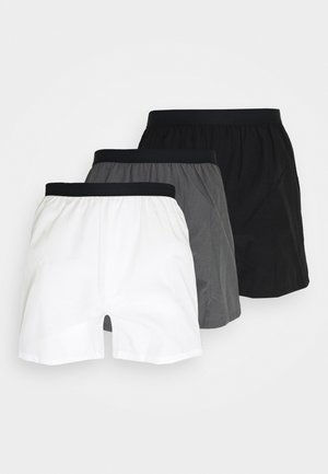 3 PACK - Boxershort - black/grey/white