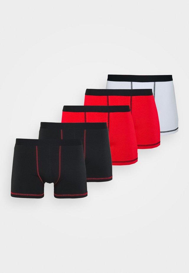 5 Pack - Bokserit - black/red