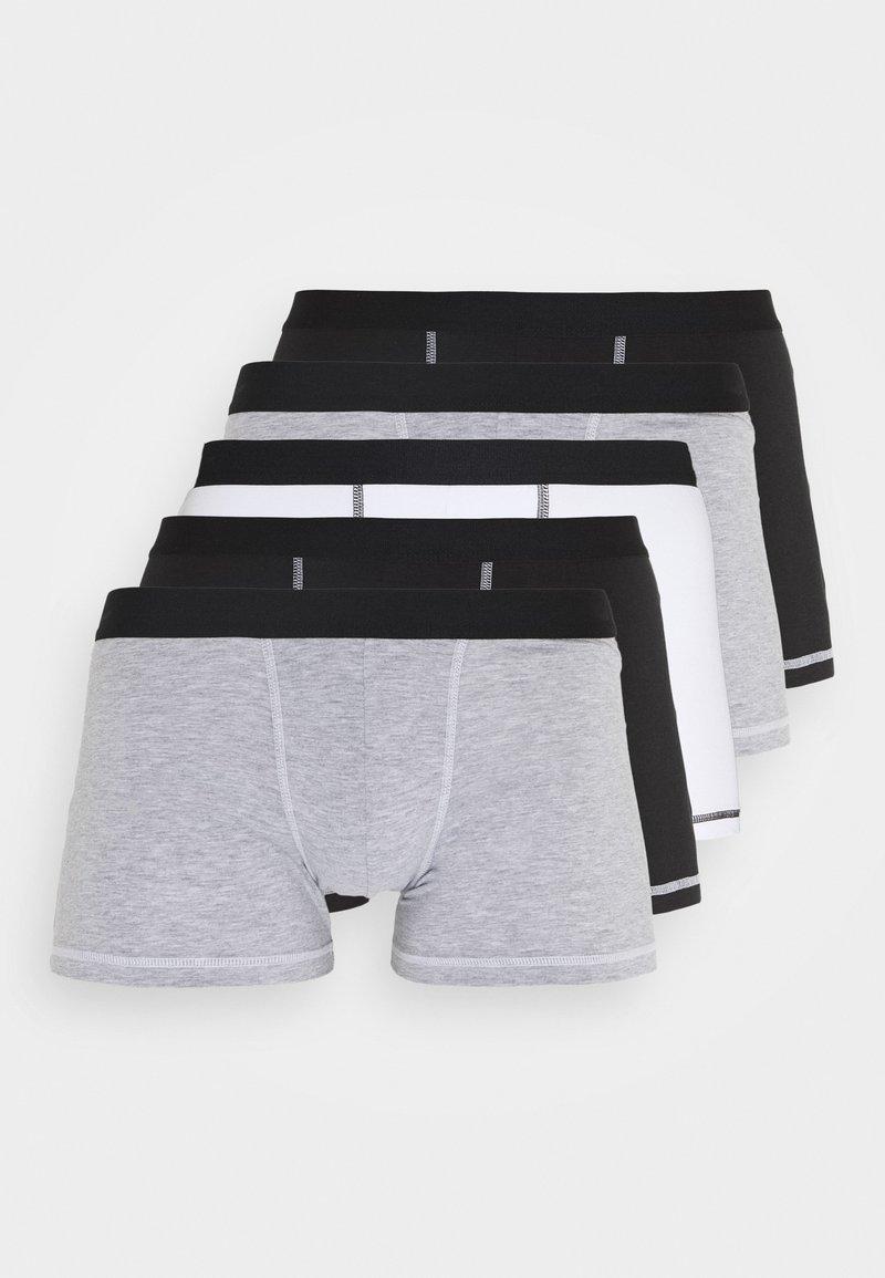 Pier One - 5 Pack - Onderbroeken - black/mottled grey