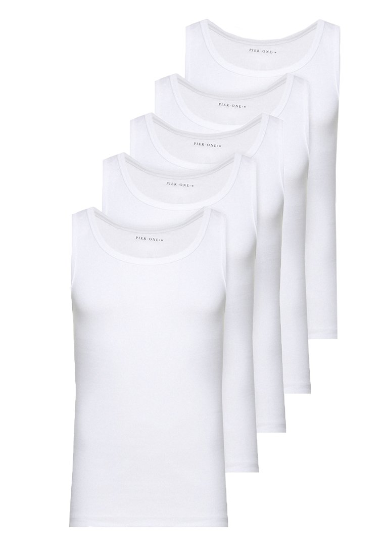 Pier One - 5 PACK - Camiseta interior - white