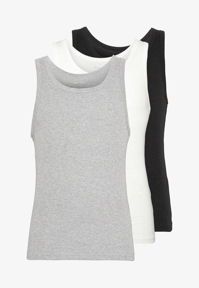 3 PACK - Undertrøye - black/grey/white