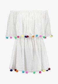 Pitusa - POM POM FESTIVAL DRESS - Strandaccessoire - white - 4