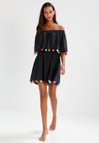 Pitusa - POM POM FESTIVAL DRESS - Strandaccessoire - black - 1