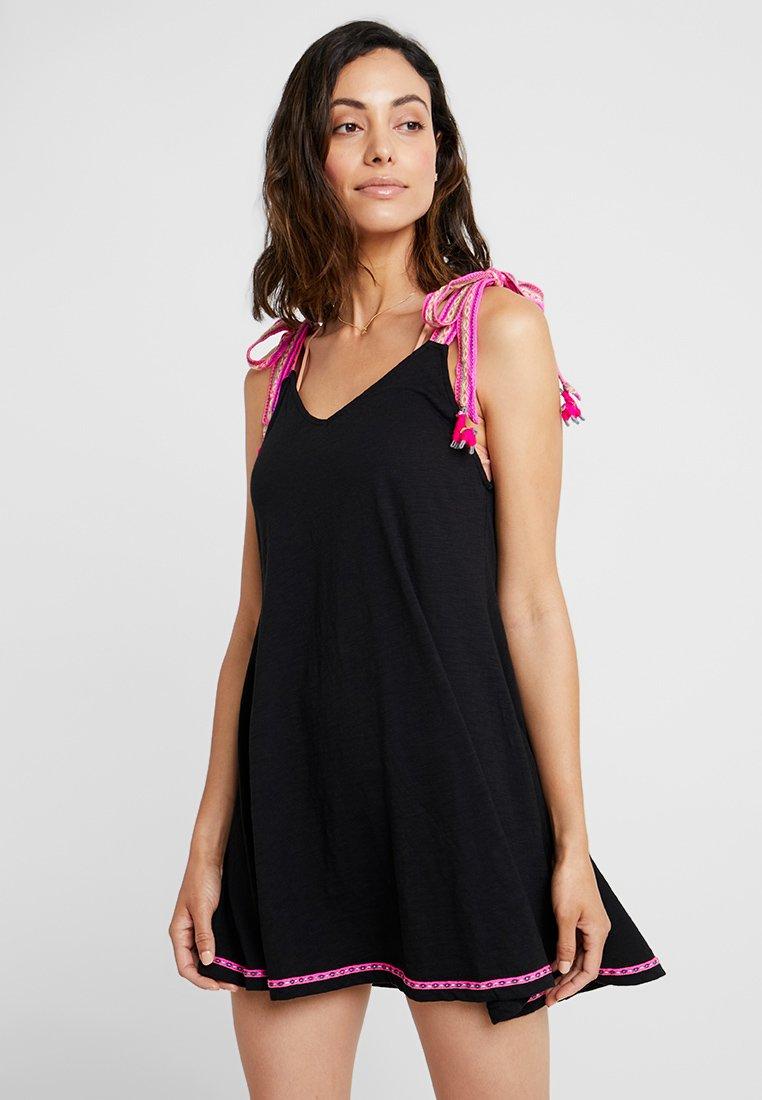 Pitusa - LLAMA TIE DRESS - Doplňky na pláž - black