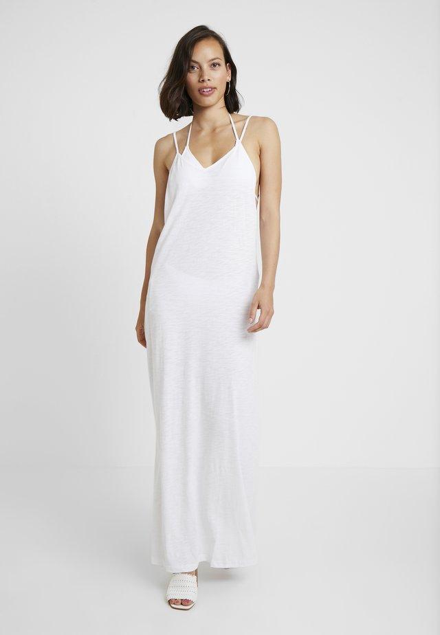 FULL LENGTH POM POM NECK DRESS - Strand accessories - white