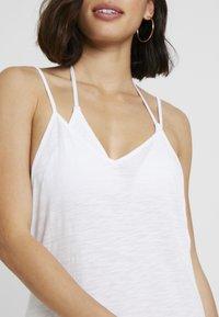 Pitusa - FULL LENGTH POM POM NECK DRESS - Beach accessory - white - 5